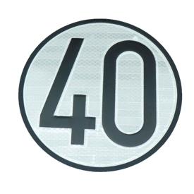 Imagen de Disco limitación velocidad 40 km/h
