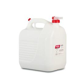 Imagen de Bidón 10 litros blanco con grifo Tayg