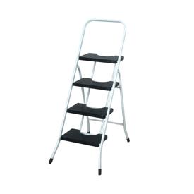 Imagen de Escalera taburete 4 peldaños con barandilla