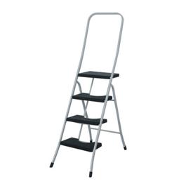 Imagen de Escalera taburete 4 peldaños con barandilla alta