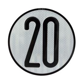 Imagen de Disco limitación velocidad 20 km/h