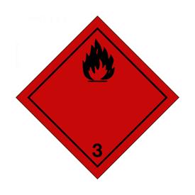 Imagen de Placa aluminio material líquido inflamable