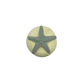 Imagen de Pomo estrella gris marfil Nesu
