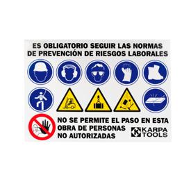 Imagen de Panel normas seguridad obra