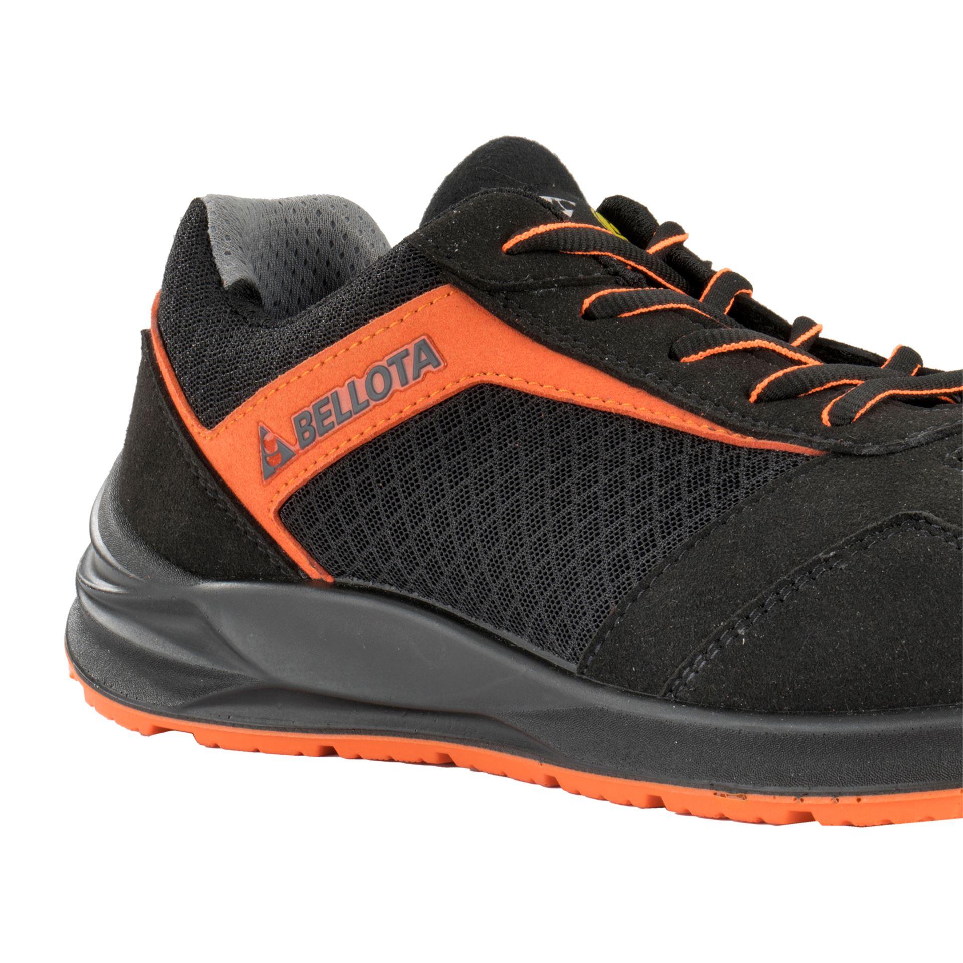 Imagen de Zapato seguridad S1P Bellota Flex negro-naranja FTW05