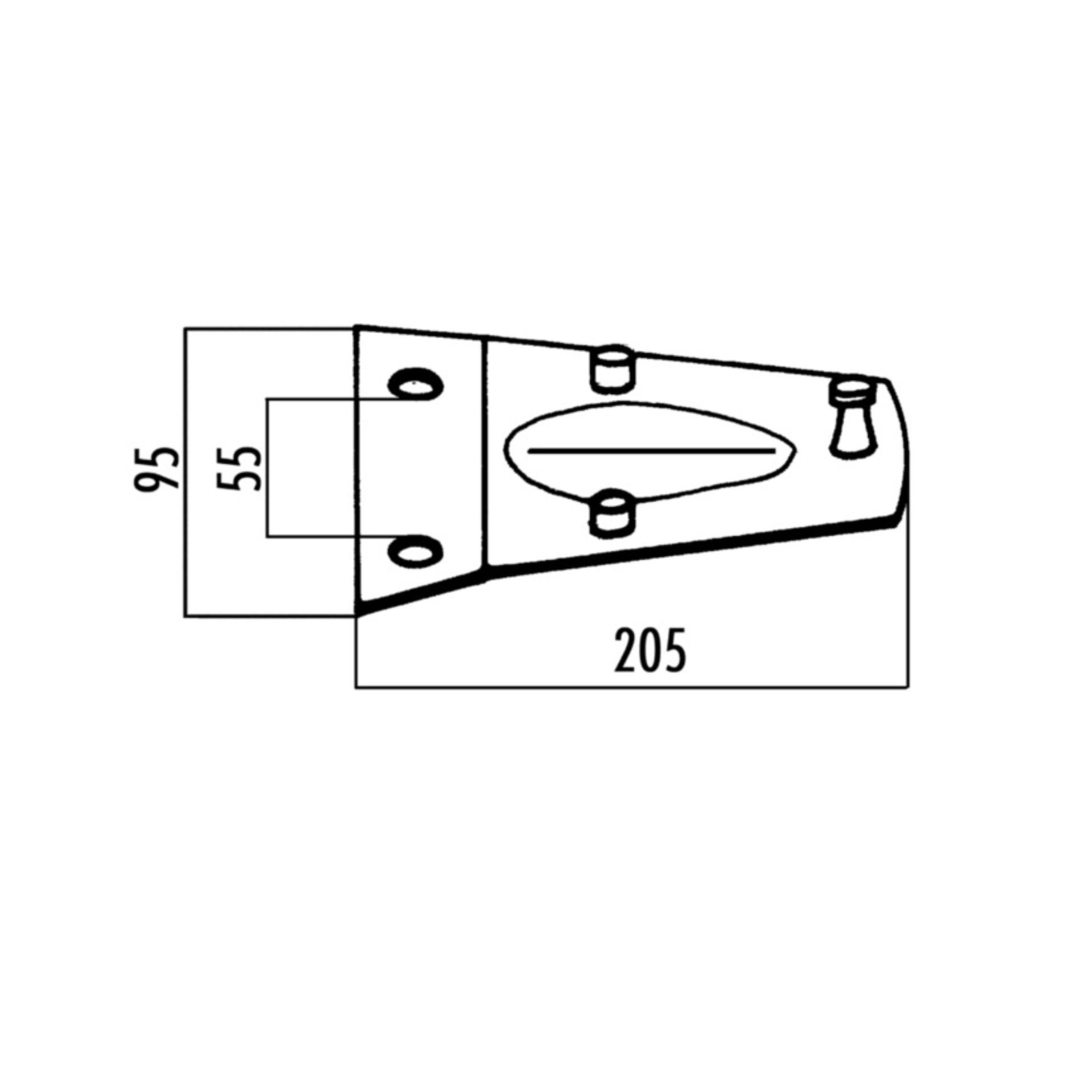 Imagen de Soporte porta cuchilla rotativa Fahr 1101701055000